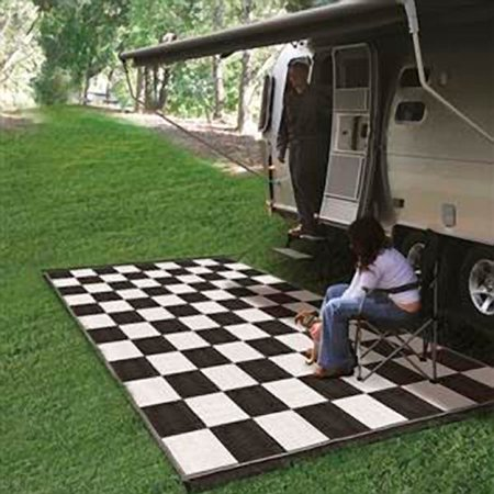 Camco 42884 Reversible Outdoor Mat 6 X 9 Checkered