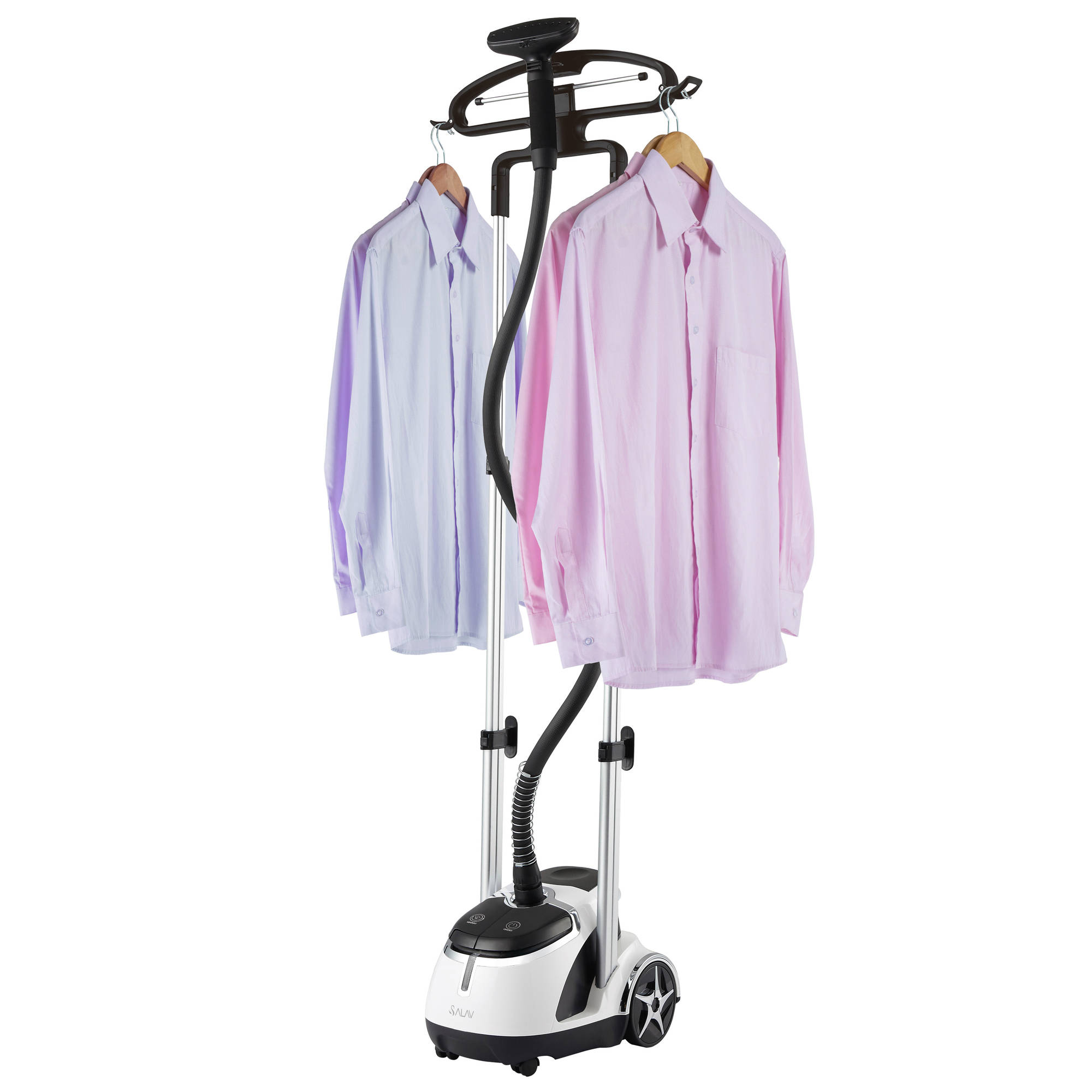 SALAV GS45-DJ Dual Bar Garment Steamer w/ Foot Pedal Controls, Black