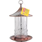 Stokes Select High Capacity Bird Feeder with Metal Roof, Brushed Copper, 2.1 lb Seed Capacity