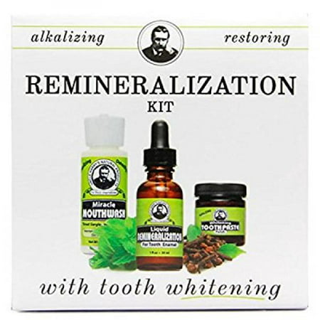 Remineralization Kit with Tooth Whitening Toothpaste Polish (1 Kit) (Remineralization Toothpaste)