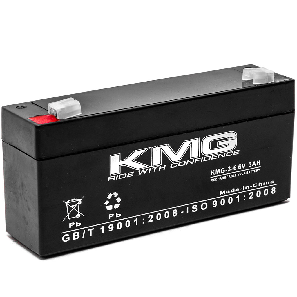 KMG 6V 3 Ah Replacement Battery for Panasonic LCR063R2PU LCR063R4P LCR063R4PU