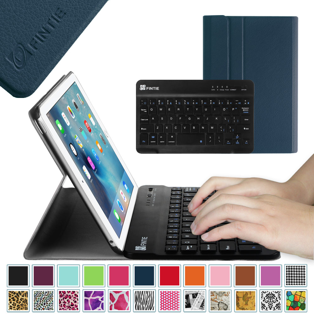 Fintie iPad mini 4 Case - Ultra Slim Shell Lightweight Cover with Detachable Wireless Bluetooth Keyboard, Navy