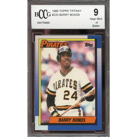 1990 topps tiffany #220 BARRY BONDS pittsburgh pirates BGS BCCG 9