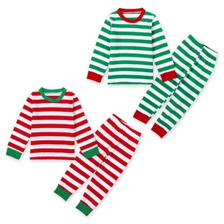 Hirigin - 2Pcs Christmas Sleepwear Kids Boys Girls Pajamas Nightwear Cotton Outfits Set - Walmart.com