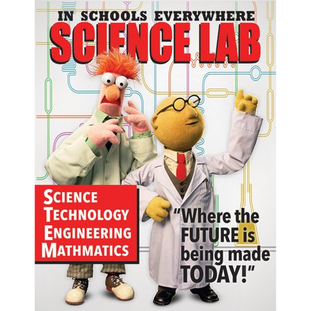 Poster Set Science Lab - MUPPETS SCIENCE LAB POSTER