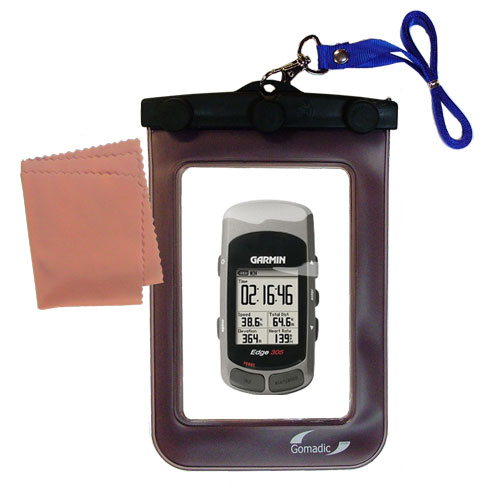 Gomadic Clean and Dry Waterproof Protective Case Suitablefor the Garmin Edge 305 to use Underwater