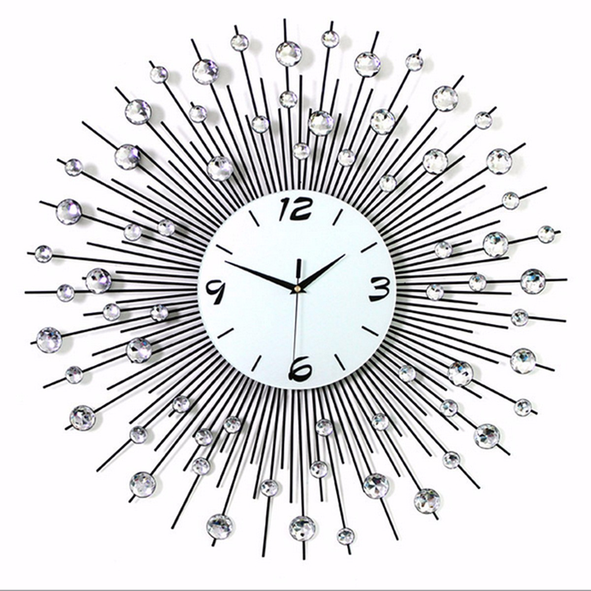 Silent Wall Clock Art Round Diamond Wall Clock Living Room Balcony Bedroom  Creative Decorative Wall Clock Part 94