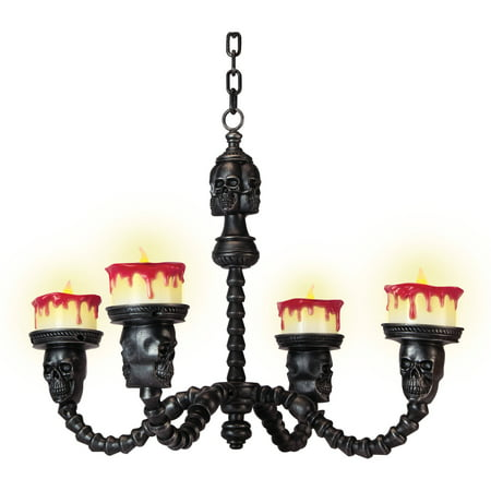 Spooky Candle Chandelier Halloween Decoration - Halloween Spooky Backgrounds