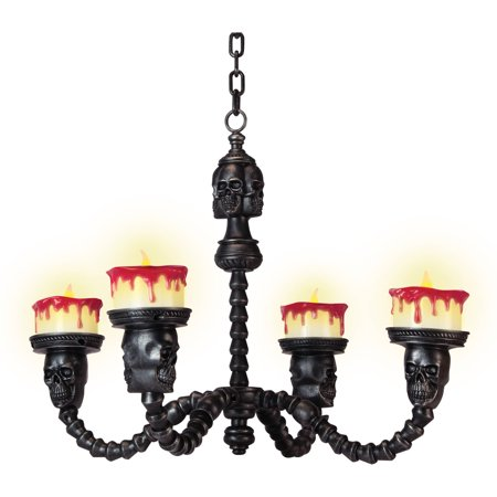 Spooky Candle Chandelier Halloween Decoration - Halloween Side Dishes Spooky