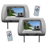 "Tview 7"" TFT/LCD Car Headrest with MonitorPair Gray"