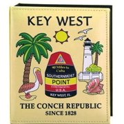 Key West Florida Map Embossed Photo Album 100 Photos / 4x6