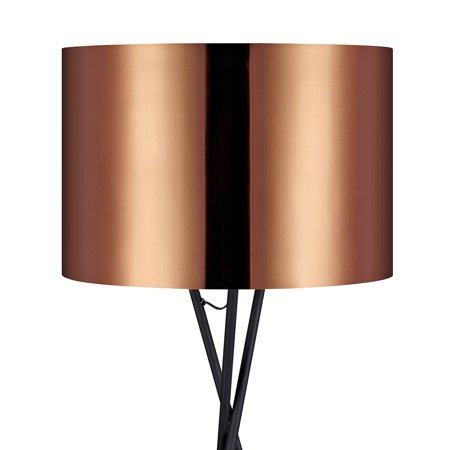Versanora - Cara Tripod Floor Lamp with Copper Shade