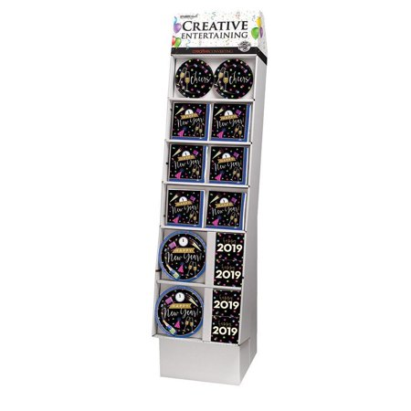 New Years Cheers 140 Piece Floor Display - Party Display And Costume