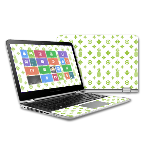 MightySkins Protective Vinyl Skin Decal for HP Pavilion x360 - 13t Touch Laptop case wrap cover sticker skins Lime Designer