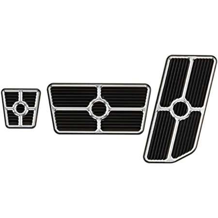BILLET SPECIALTIES 198625 Pedal Pads and Components Universal Pedal Kits Grooved Black