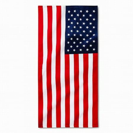 American Flag Cotton Beach Towel 30x60 Americana Stars Stripes