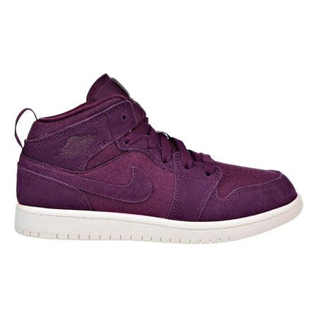 new product 29f37 4b40f Jordan 1 Mid Boys Litttle Kids Shoes Bordeaux/Sail 640734-625