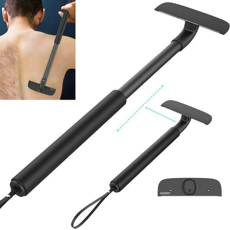 Back Shaver Body Razor,XPREEN Adjustable Telescopic Sturdy Handle Back Hair Removal Shaver,Portable Painless Back Hair Trimmer Professional Body Groomer for Wet or Dry Trimmer