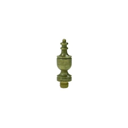 Solid Brass Urn Tip Finial in Distressed Finish (Set of 10) (Dark (Center Rust Finial)