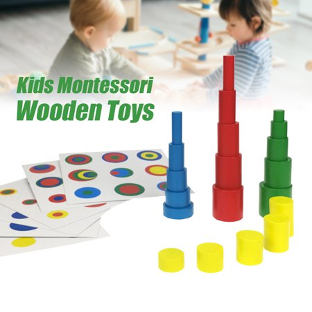 Kids Early Educational Learning Toys Set Wooden Blocks Color Learning Toy - image 3 de 4