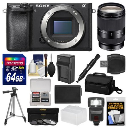 Sony Alpha A6300 4k Wi Fi Digital Camera Body Black With