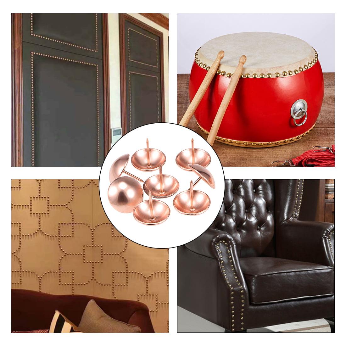 Upholstery Nails Tacks 25mmx25mm Round Thumb Push Pins Rose Gold Tone 10 Pcs - image 2 of 4