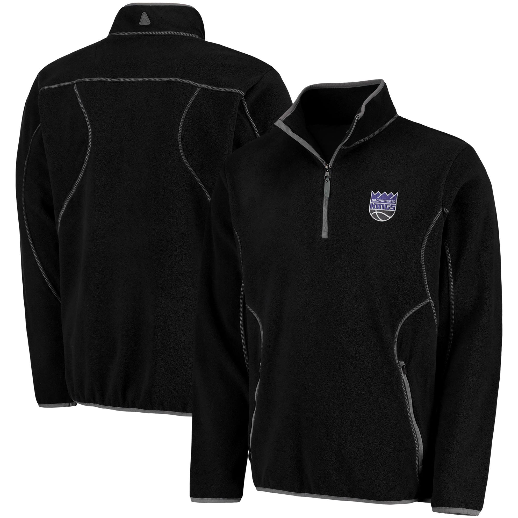 Sacramento Kings Antigua Ice Quarter-Zip Pullover Jacket - Black