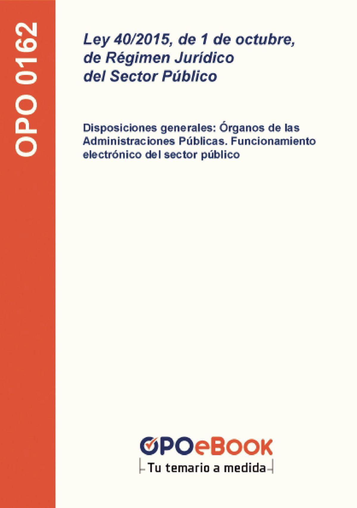 Ley 40 2015 De 1 De Octubre De Régimen Jurídico Del Sector Público Ebook Walmart Com Walmart Com