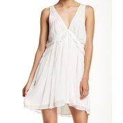 Free People NEW White Ivory Women's Size XS Sheath V-Neck Mini Dress