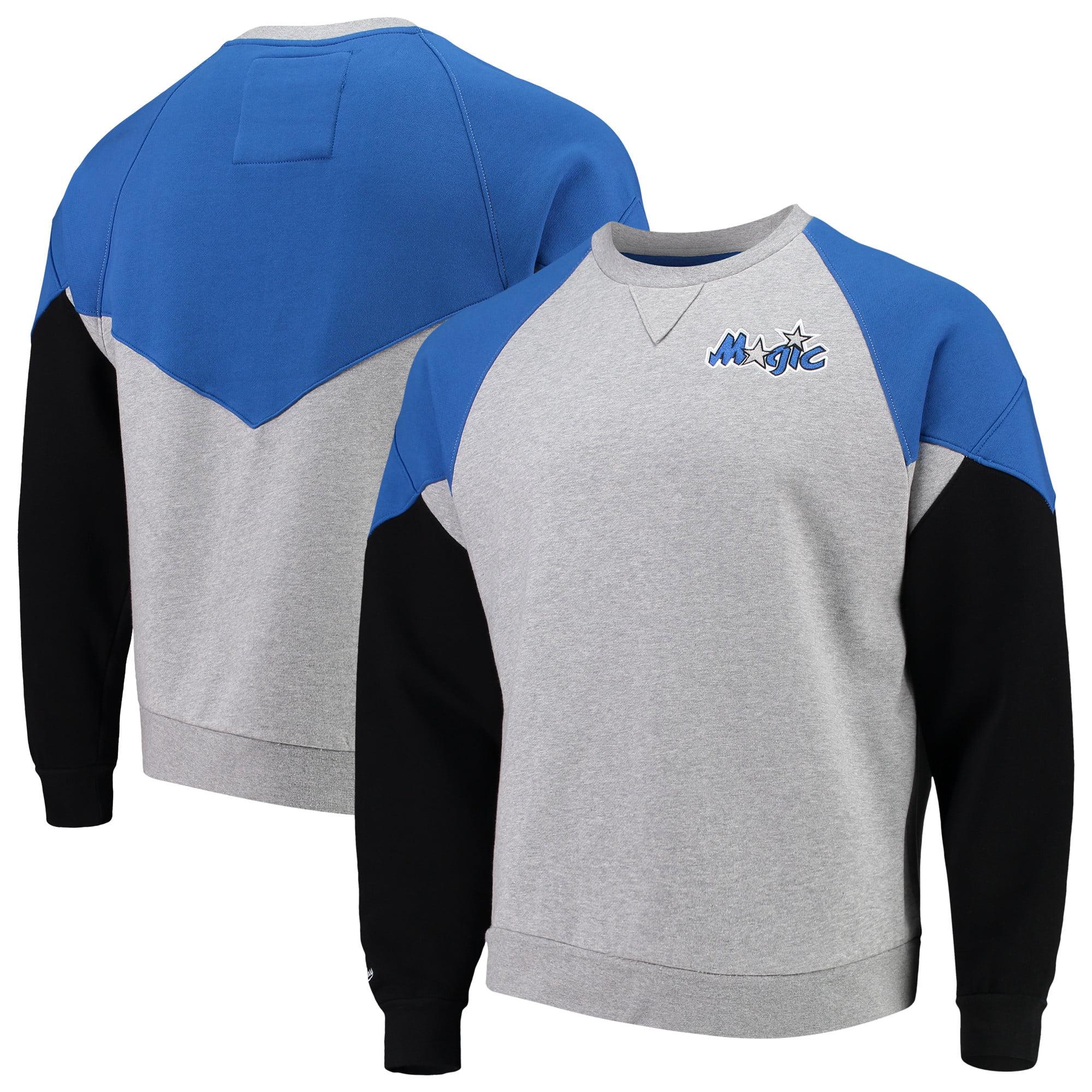 Orlando Magic Mitchell & Ness Hardwood Classics Trading Block Crew Sweatshirt - Heathered Gray