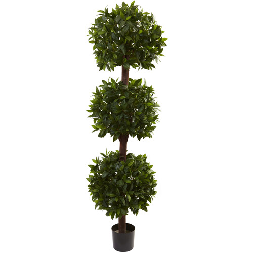 Nearly Natural 6-1/2' Sweet Bay Triple Ball Topiary