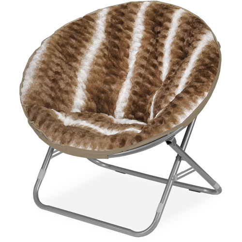 Cocoon Ombre Wave Textured Faux Fur Saucer Chair
