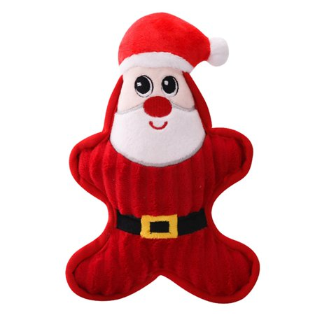 Fymall Dog Christmas Funny Gift Playing Squeaky Toys Pet Soft Chew Interactive Sound Toy Dog Pet Parking Gift