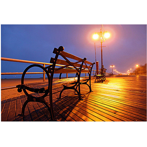 "Trademark Art ""Boardwalk"" Canvas Art by CATeyes"