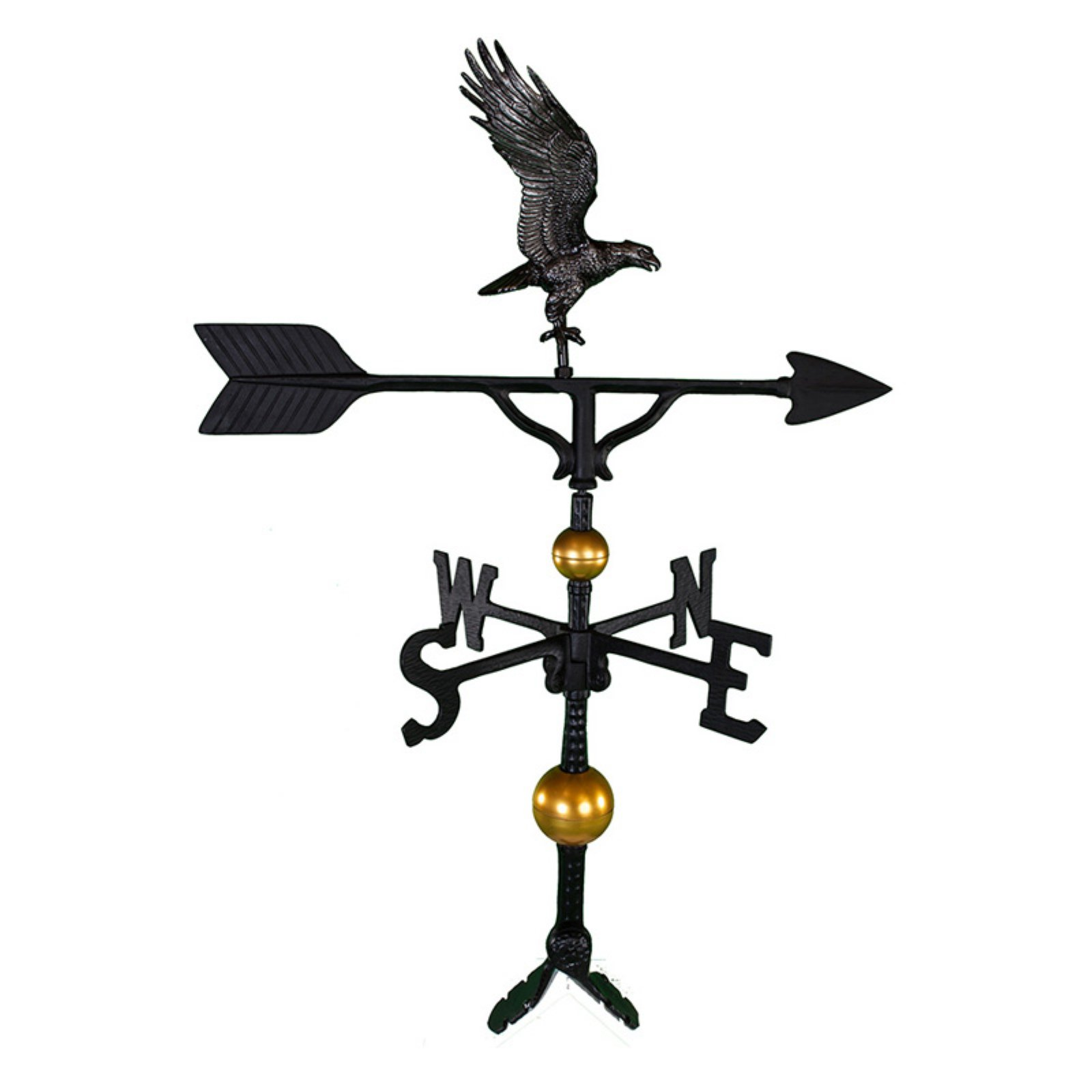 Deluxe Swedish Iron Full Bodied Eagle Weathervane 32 in. by Montague Metal Products