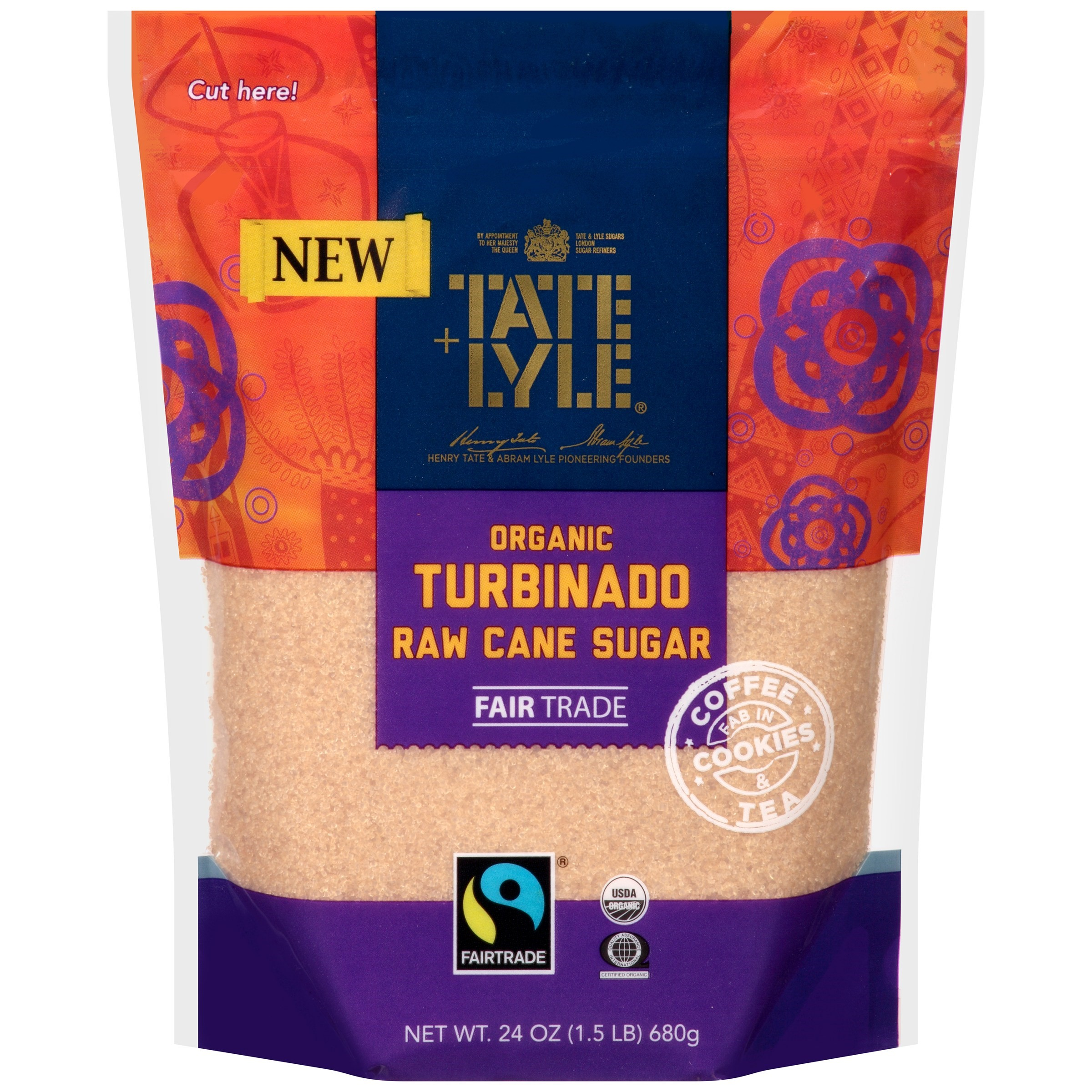 Tate & Lyle Organic Turbinado Raw Cane Sugar, 24 oz