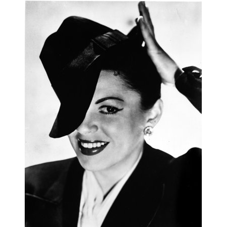 Judy Garland portrait with tipped hat on head Photo