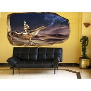 Startonight 3D Mural Wall Art Photo Decor Make A Wish! Amazing Dual View Surprise Wall Mural Wallpaper Fantasy Gift Large 47.24 '' By 86.61 ''