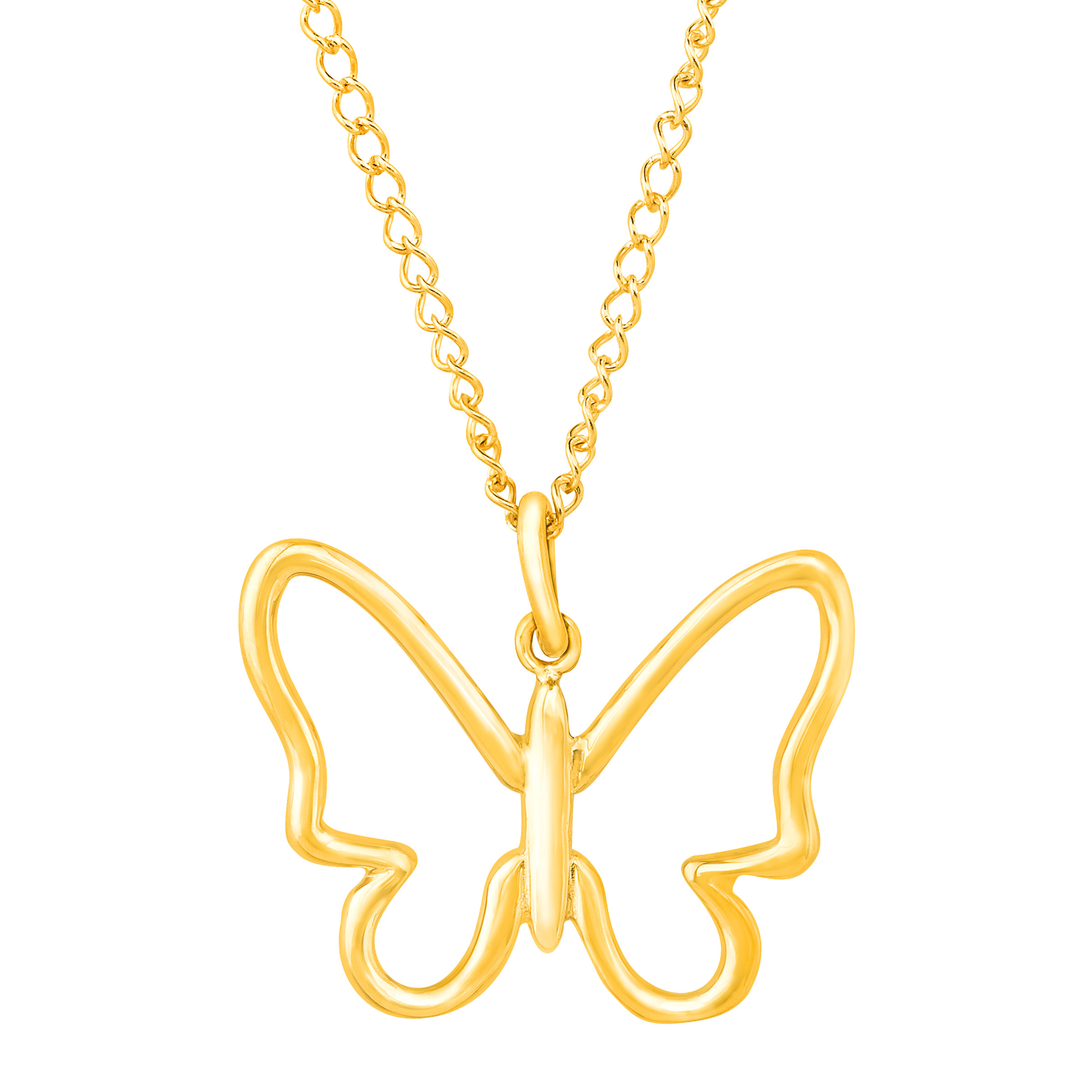 Richline Simply Gold Silhouette Butterfly Pendant Necklac...