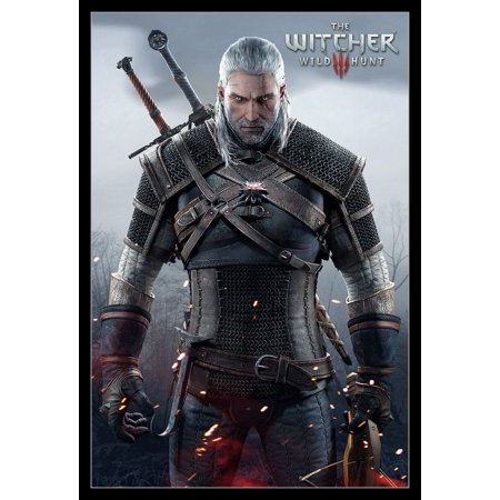 The Witcher Wild Hunt Laminated & Framed Poster Print (24 x