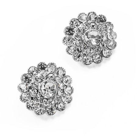Expo Int'l 22mm Khia Rhinestone Button (Crown Pattern Rhinestone)