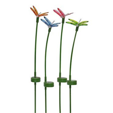 Alpine Corp Rgg220abb Tm Solar Dragonfly Garden Stake Pack Of 16