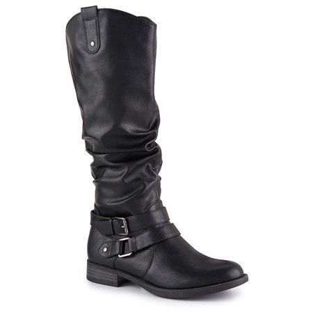 Limelight Womens Madison Equestrian Slouch Boot Shoes