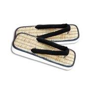 Straw Zori Sandals - Large