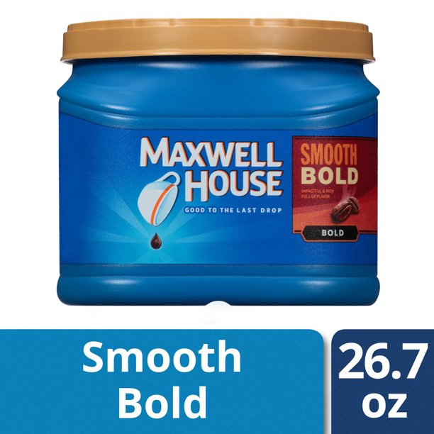 Maxwell House Smooth Bold Ground Coffee, 26.7 oz Canister