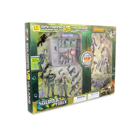 - Toy Figure Playsets Soldier Vs Villains Play Set