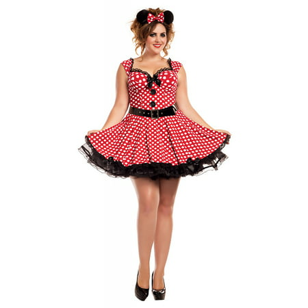 Plus Size Flapper Costume 3x (Missy Mouse Adult Costume - Plus Size)
