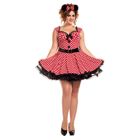 3x Costume (Missy Mouse Adult Costume - Plus Size)
