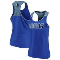 Dallas Mavericks Fanatics Branded Women's Made to Move Static Performance Racerback Tank Top - Blue/Heathered Blue