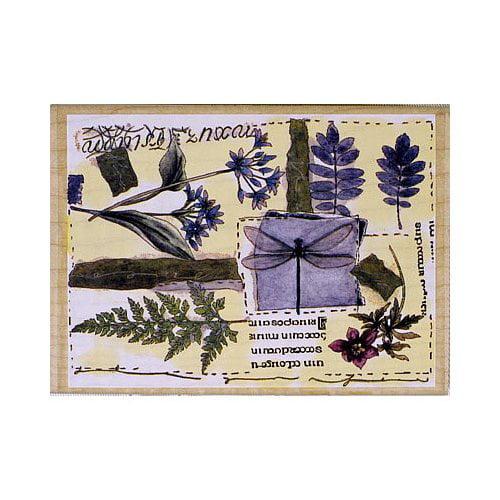 Janlynn Floral Collage Rubber Stamp